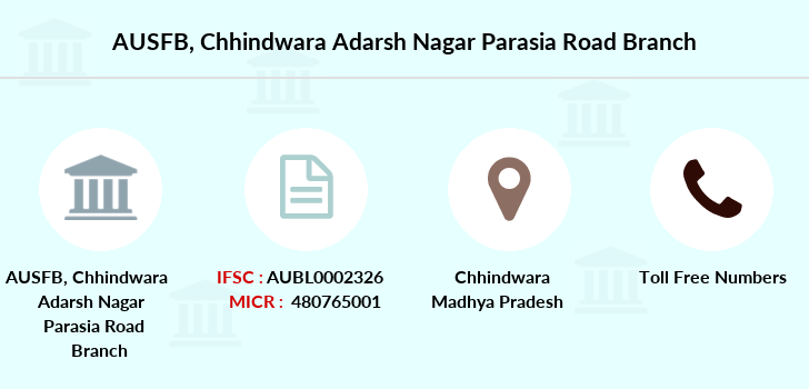 Au-small-finance-bank-limited Chhindwara-adarsh-nagar-parasia-road branch