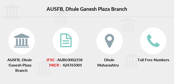 Au-small-finance-bank-limited Dhule-ganesh-plaza branch