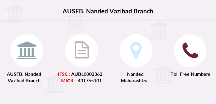 Au-small-finance-bank-limited Nanded-vazibad branch