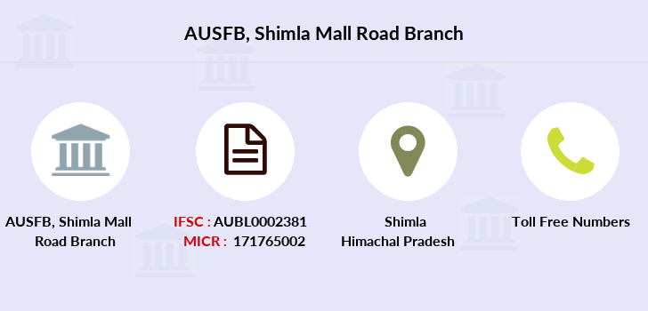 Au-small-finance-bank-limited Shimla-mall-road branch