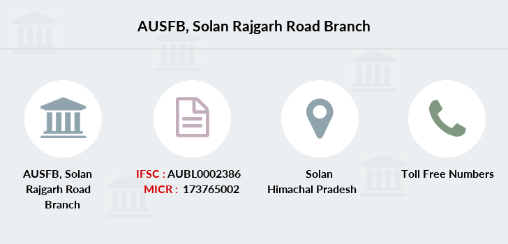 Au-small-finance-bank-limited Solan-rajgarh-road branch