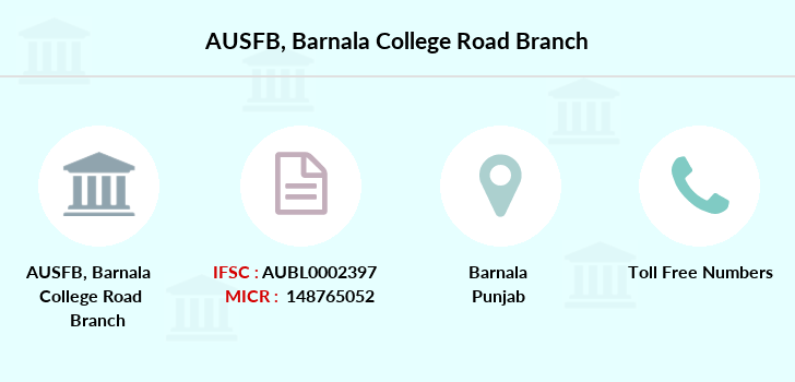 Au-small-finance-bank-limited Barnala-college-road branch