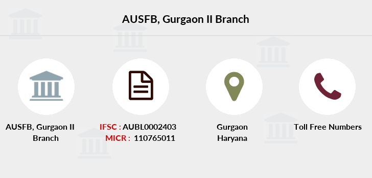 Au-small-finance-bank-limited Gurgaon-ii branch