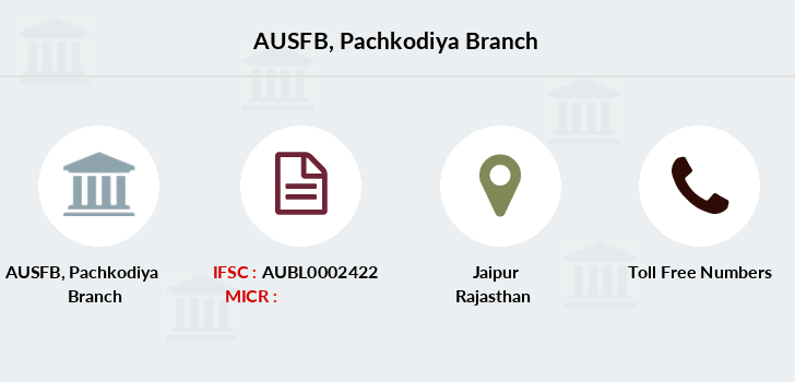 Au-small-finance-bank-limited Pachkodiya branch