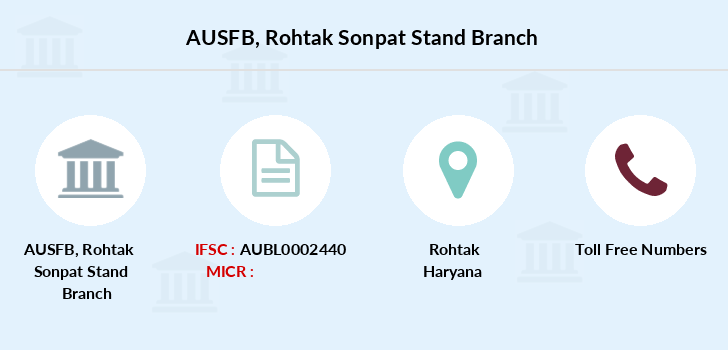 Au-small-finance-bank-limited Rohtak-sonpat-stand branch