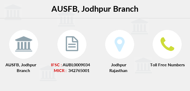 Au-small-finance-bank-limited Jodhpur branch