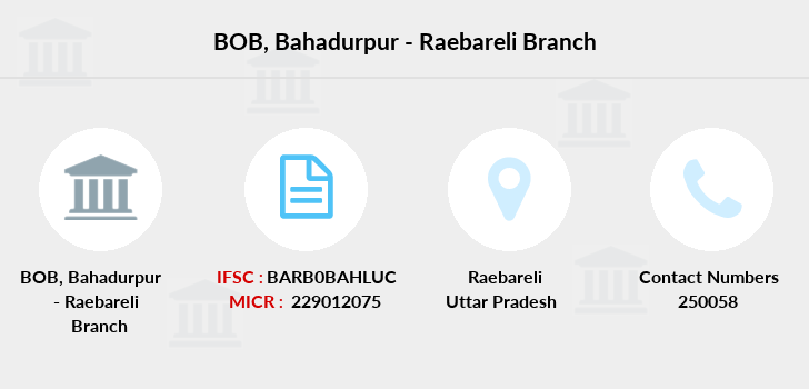 Bank-of-baroda Bahadurpur-raebareli branch