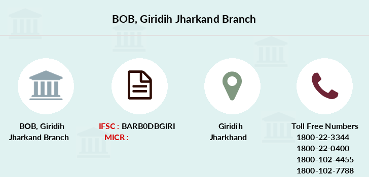 Bank-of-baroda Giridih-jharkand branch