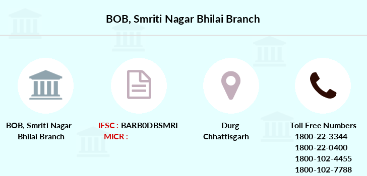 Bank-of-baroda Smriti-nagar-bhilai branch