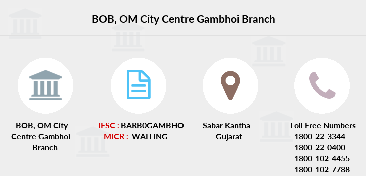 Bank-of-baroda Om-city-centre-gambhoi branch