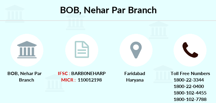 Bank-of-baroda Nehar-par-faridabad branch