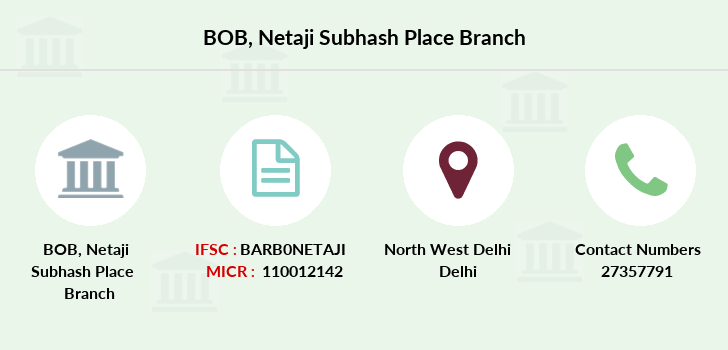 Bank-of-baroda Netaji-subhash-place branch