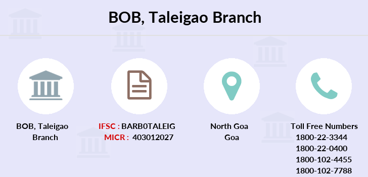 Bank-of-baroda Taleigao-panaji branch