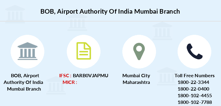 Bank-of-baroda Airport-authority-of-india-mumbai branch