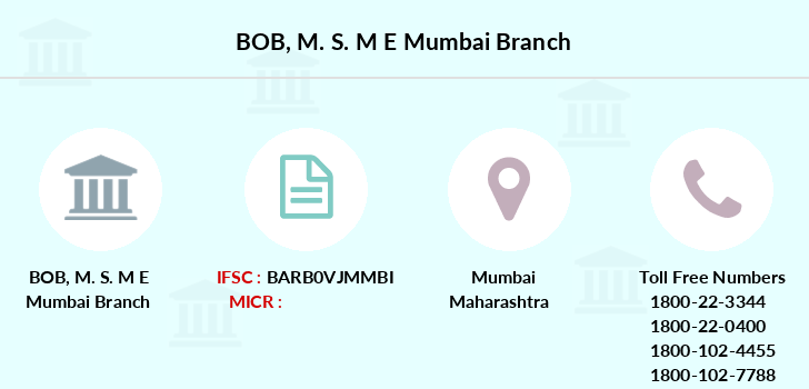 Bank-of-baroda M-s-m-e-mumbai branch