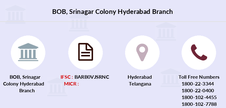 Bank-of-baroda Srinagar-colony-hyderabad branch