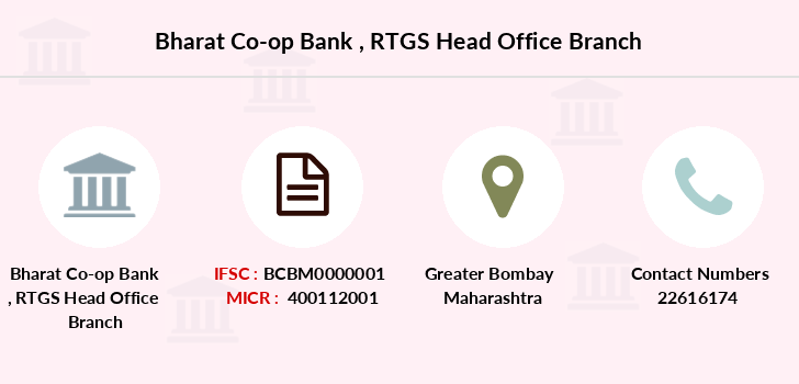 Bharat-co-op-bank Rtgs-head-office branch