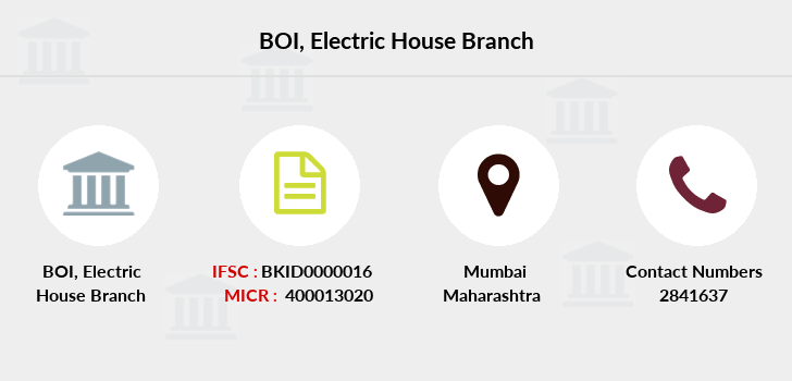 Bank-of-india Electric-house branch