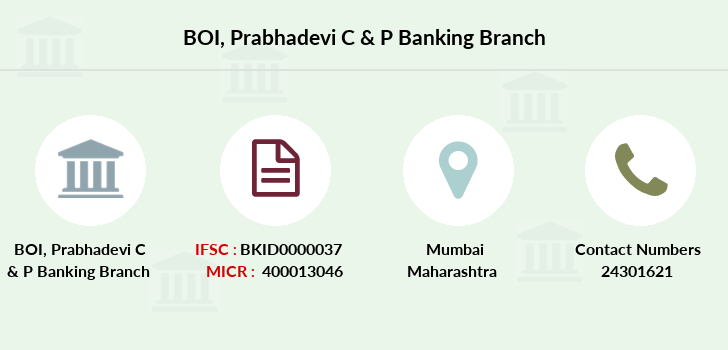 Bank-of-india Prabhadevi-c-p-banking branch