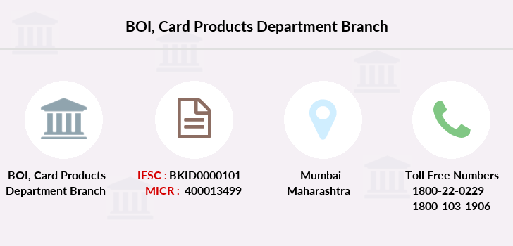 Bank-of-india Card-products-department branch