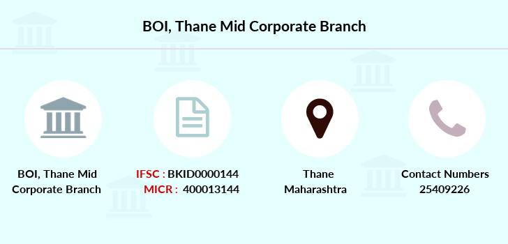 Bank-of-india Thane-mid-corporate branch