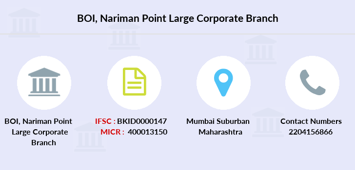 Bank-of-india Nariman-point-large-corporate branch