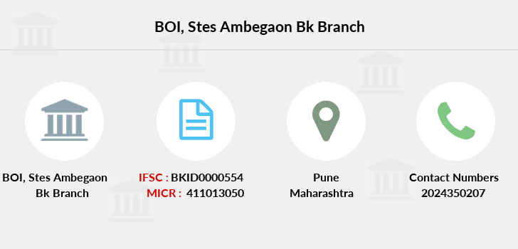 Bank-of-india Stes-ambegaon-bk branch
