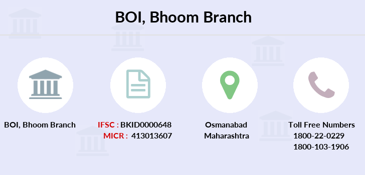 Bank-of-india Bhoom branch