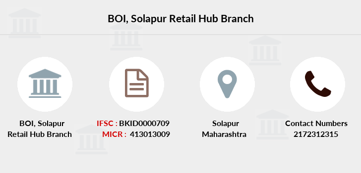 Bank-of-india Solapur-retail-hub branch