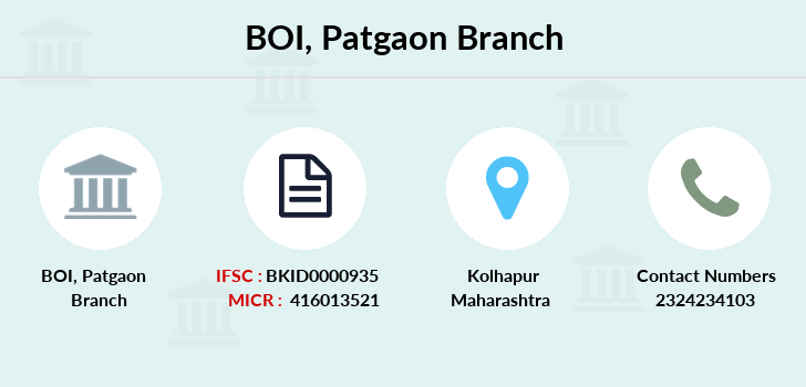 Bank-of-india Patgaon branch