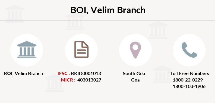 Bank-of-india Velim branch