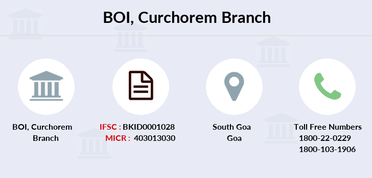 Bank-of-india Curchorem branch