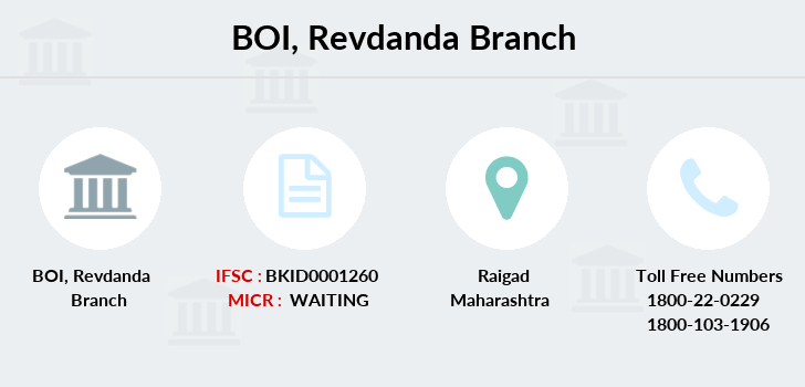 Bank-of-india Revdanda branch