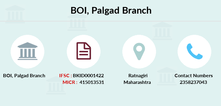 Bank-of-india Palgad branch