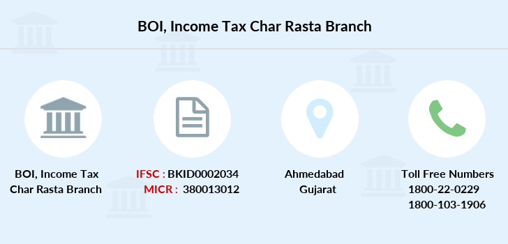 Bank-of-india Income-tax-char-rasta branch