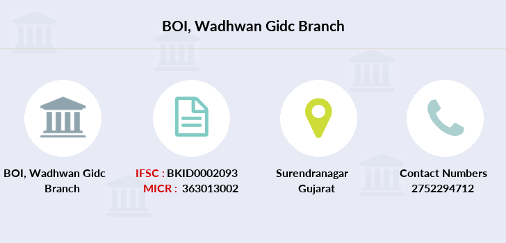 Bank-of-india Wadhwan-gidc branch