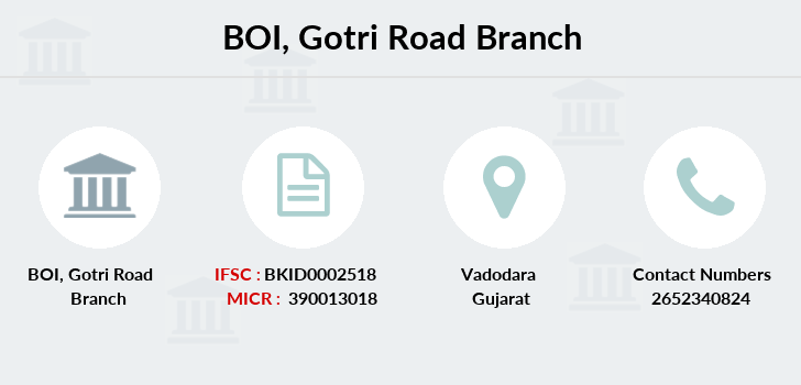 Bank-of-india Gotri-road branch