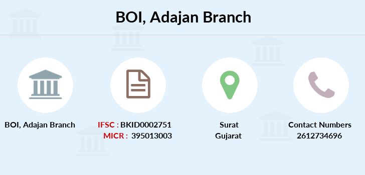 Bank-of-india Adajan branch