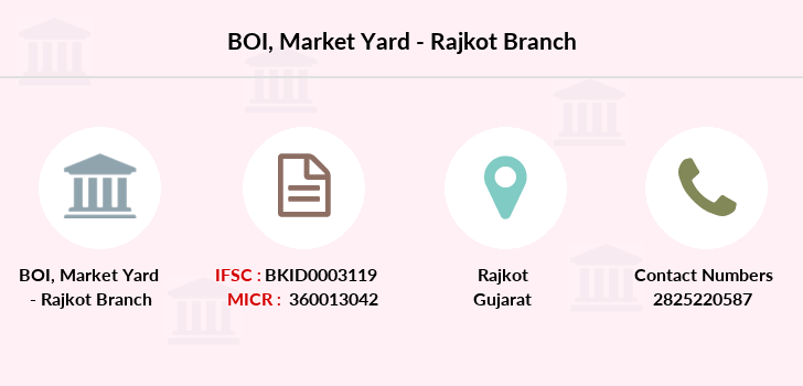 Bank-of-india Market-yard-rajkot branch