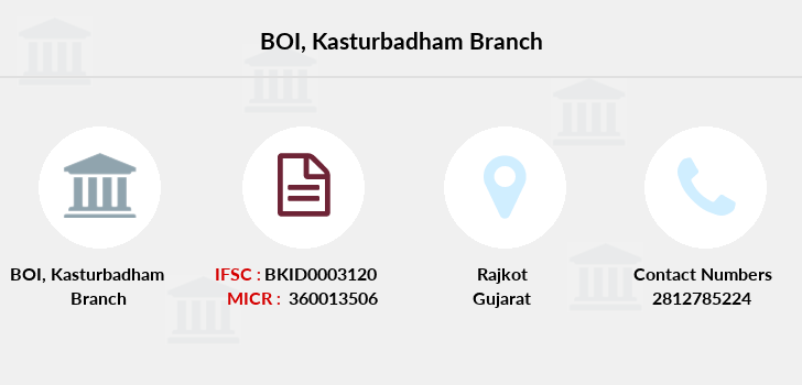 Bank-of-india Kasturbadham branch