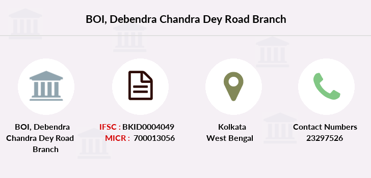Bank-of-india Debendra-chandra-dey-road branch