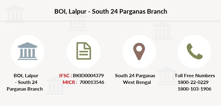 Bank-of-india Lalpur-south-24-parganas branch