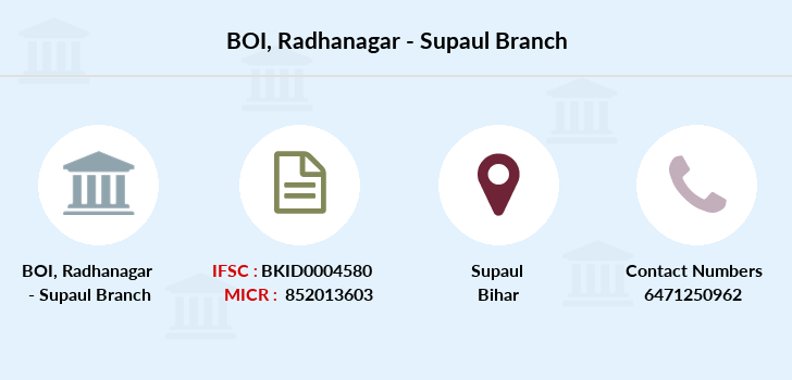 Bank-of-india Radhanagar-supaul branch