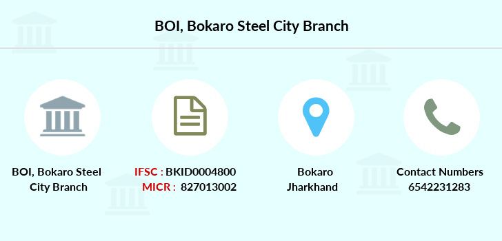 Bank-of-india Bokaro-steel-city branch