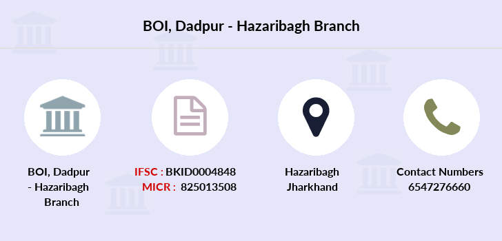 Bank-of-india Dadpur-hazaribagh branch