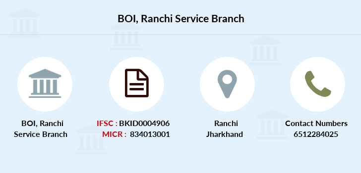 Bank-of-india Ranchi-service branch