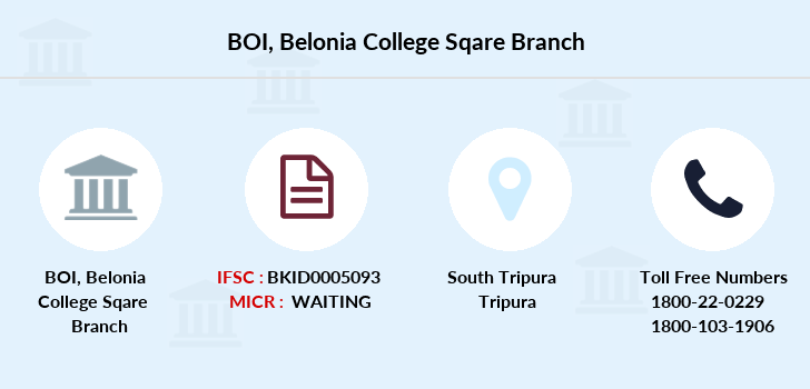 Bank-of-india Belonia-college-sqare branch