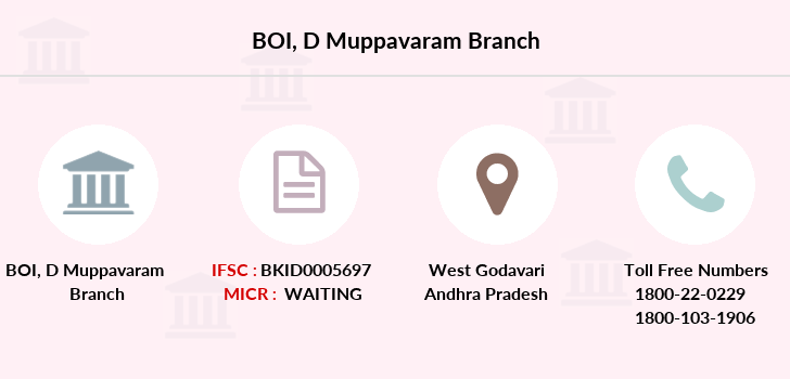 Bank-of-india D-muppavaram branch