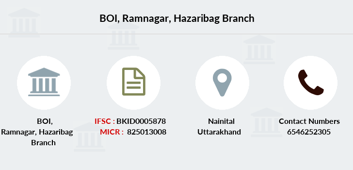 Bank-of-india Ramnagar-hazaribag branch