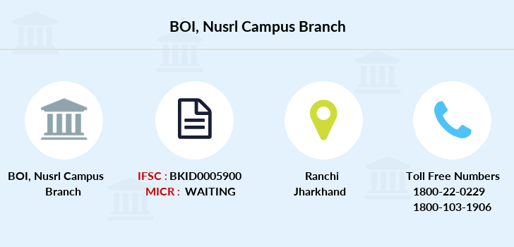 Bank-of-india Nusrl-campus branch